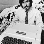 Steve Jobs with the Apple computer