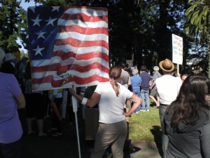 Occupy Petaluma - American Flag