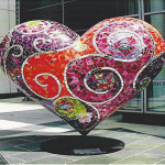 Heart sculpture at Kaiser Permanente - San Francisco