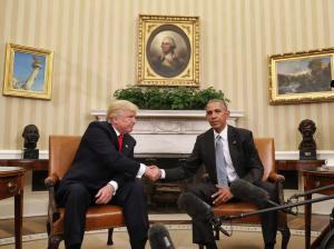 Trump and Obama in the White House